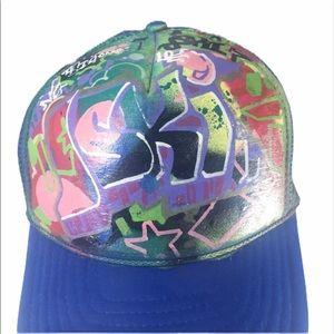 "GRAFFITI TRUCKER HAT ""J-ski"" Snap Back Multi Color"